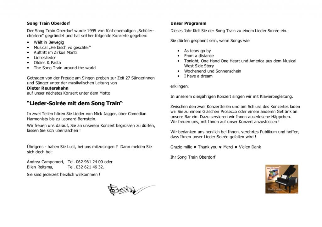 2008 Lieder Soiree Konzertprogramm