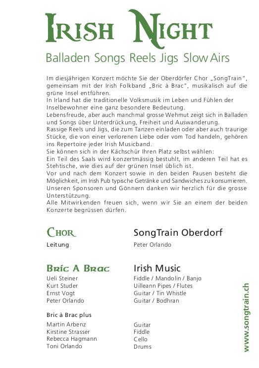 2012 Irish Night Flyer