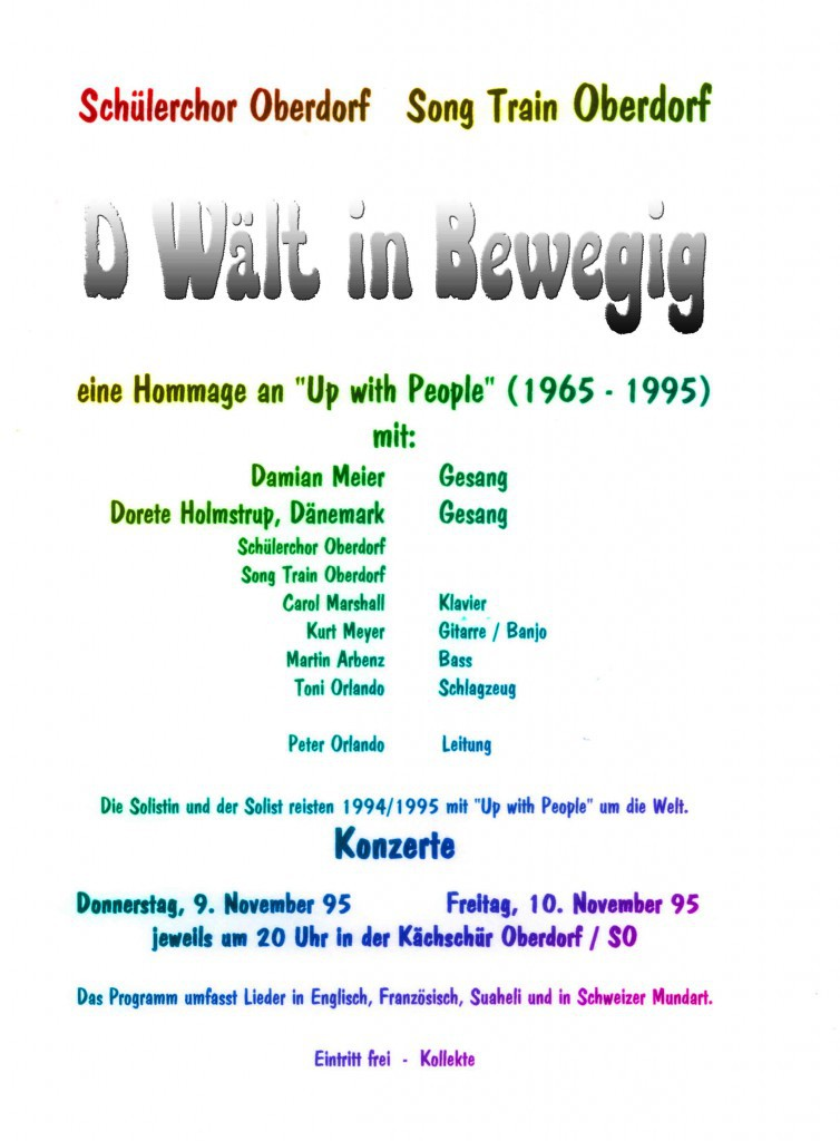 Flyer 1995 D Wält in Bewegig