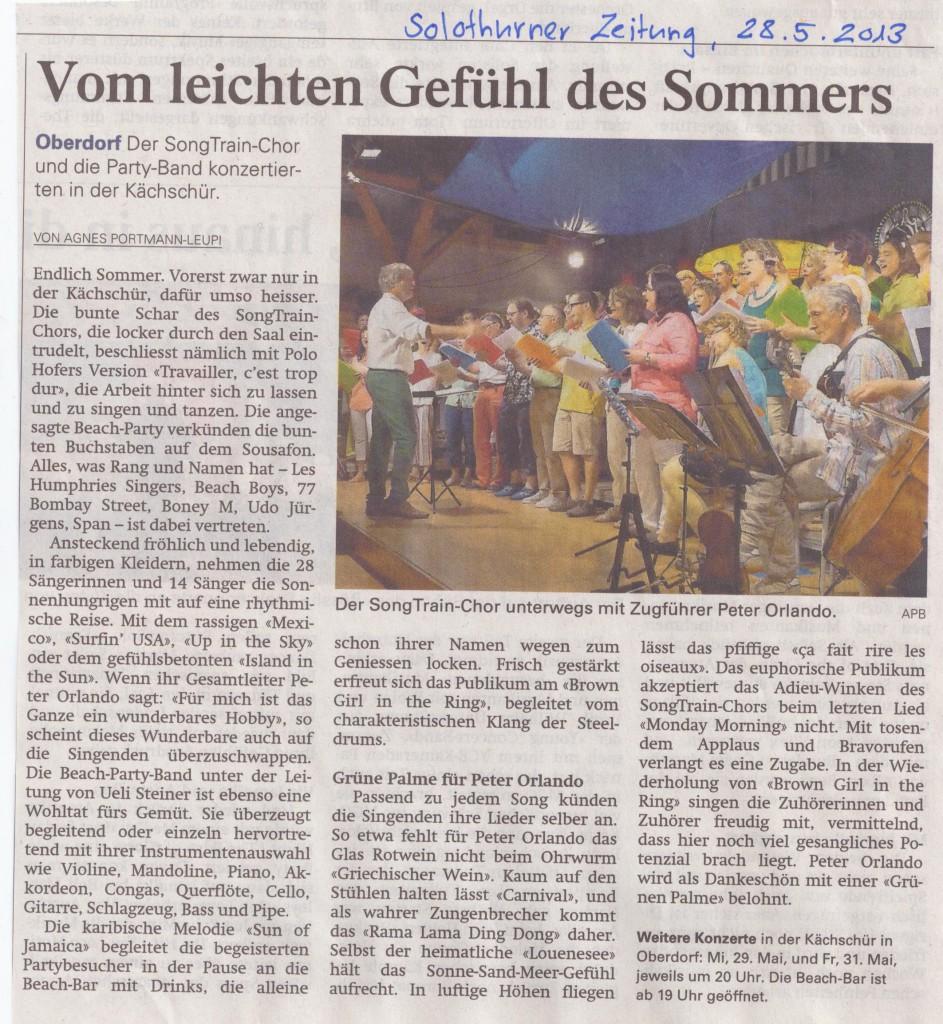 Bericht Solothurner Zeitung vom 28.05.2013