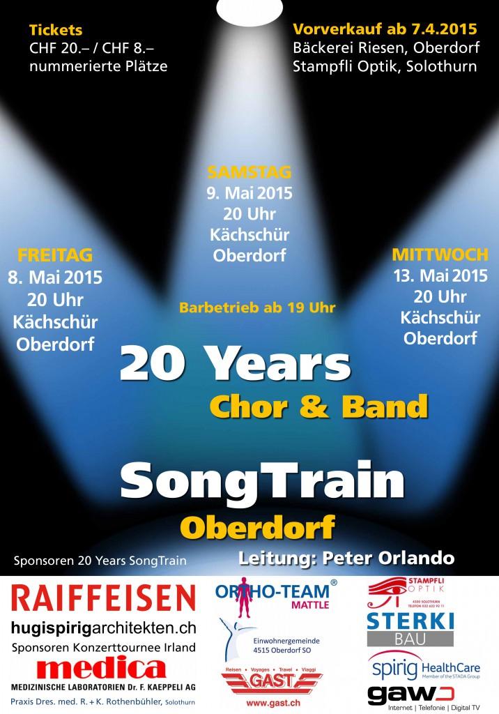 """Plakat 2015 """"20 Years SongTrain"""""""