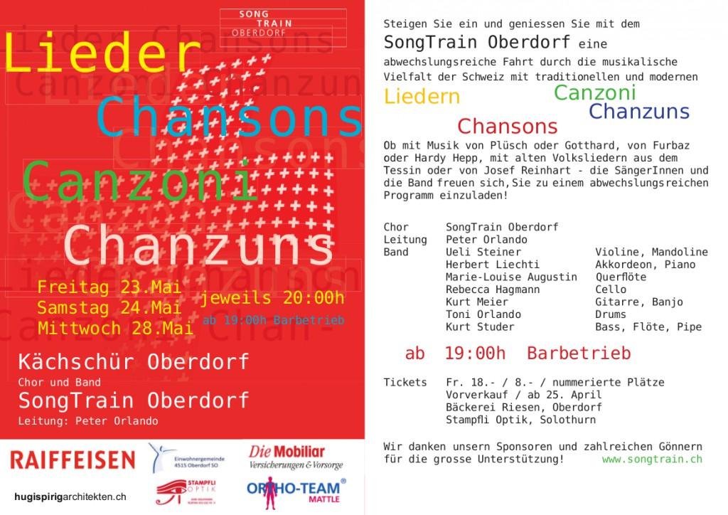 SongTrain Flyer 2014
