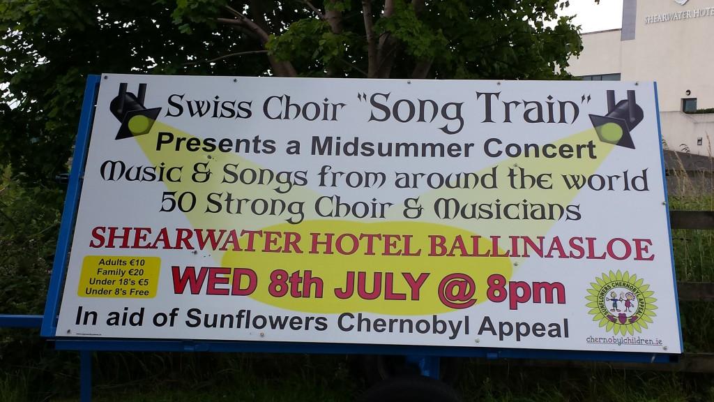 Plakat vor dem Shearwater Hotel