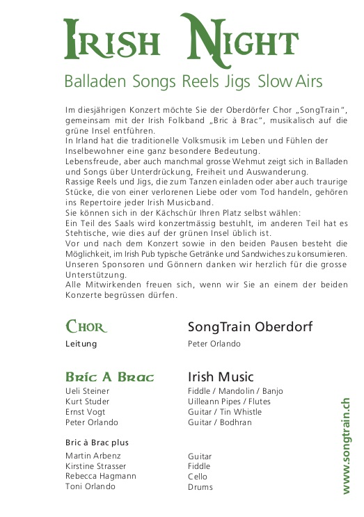 2012 Irish Night Flyer