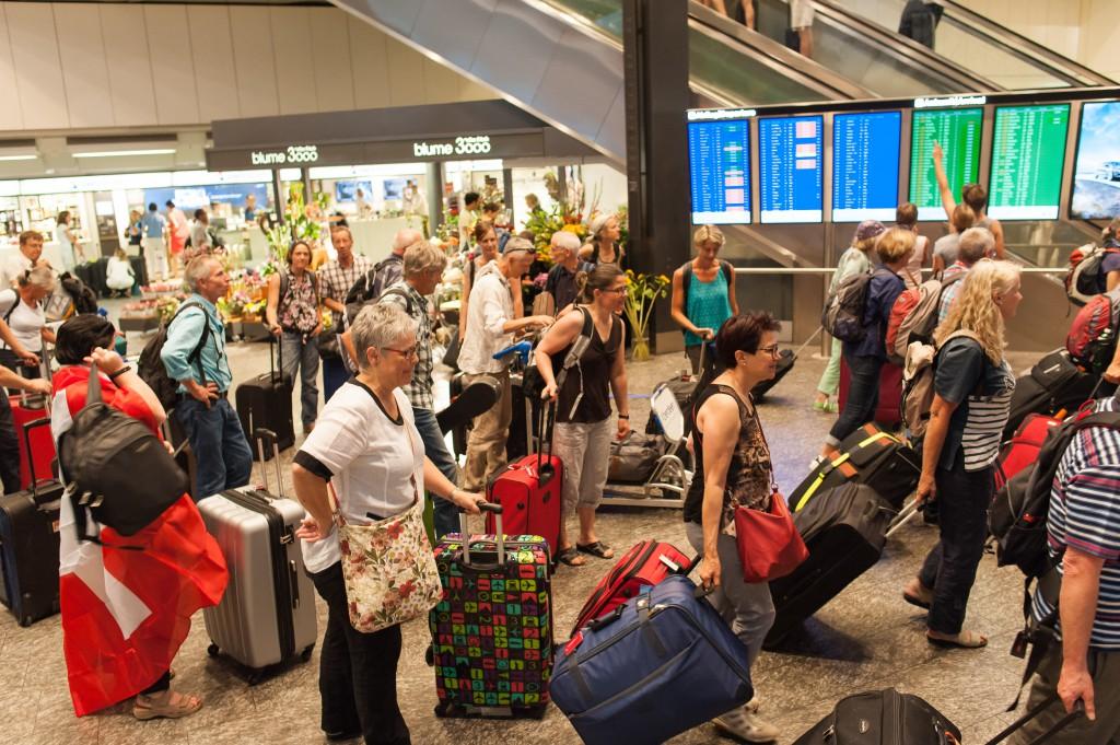 Check-in Flughafen Kloten