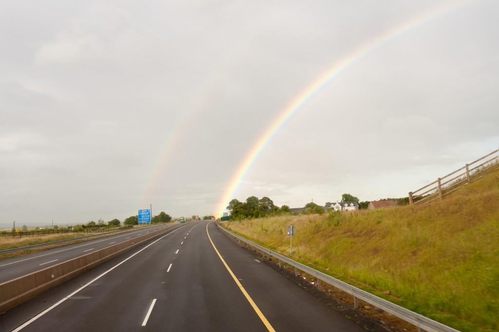 Regenbogen auf der Fahrt nach Limerick