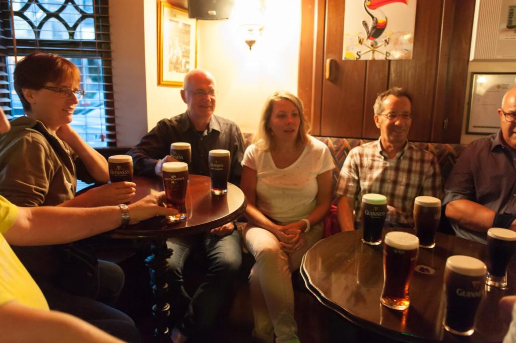 Das erste Guiness nach der Ankunft in Limerick