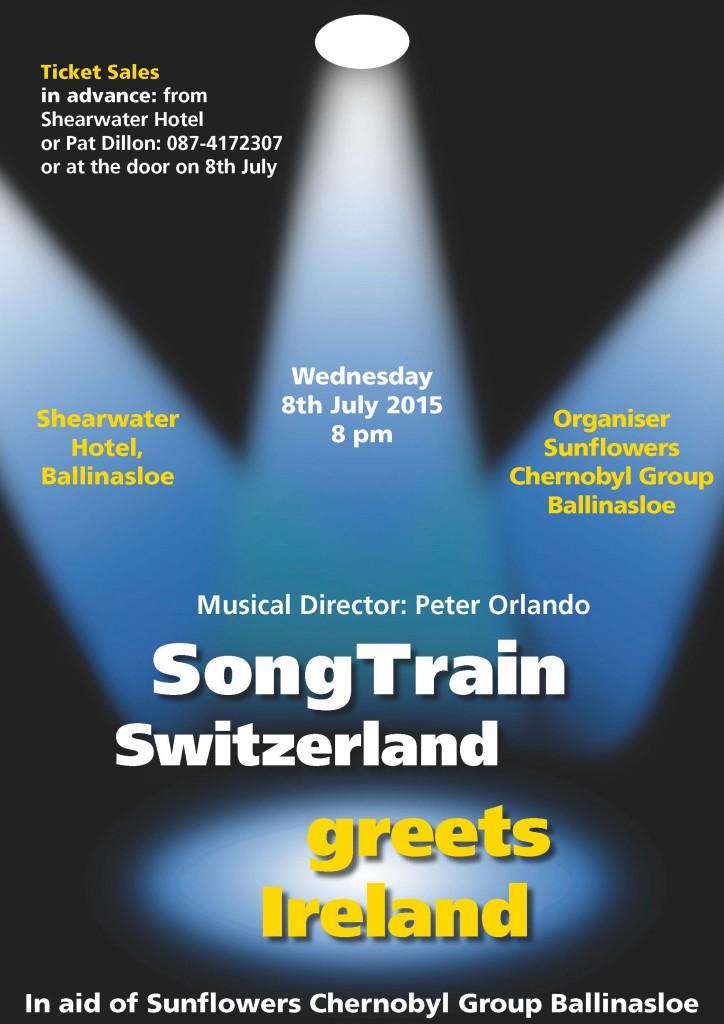 Plakat Konzert Shearwater Hotel, Ballinasloe
