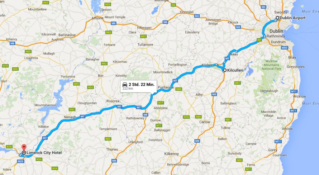 Busfahrt Dublin Airport-Killkullen-Limerick