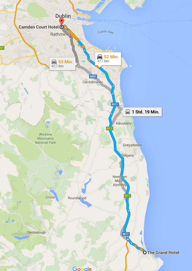Busfahrt Wicklow-Dublin