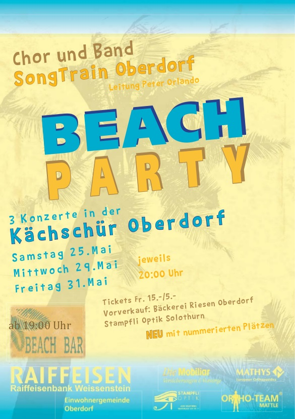 Plakat Beach Party 2013