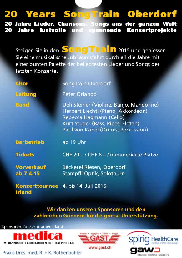 "Flyer Rückseite 2015 ""20 Years SongTrain"""