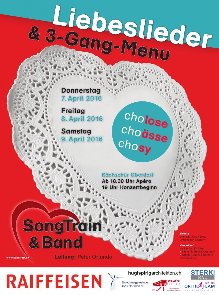 SongTrain Plakat 2016 Liebeslieder