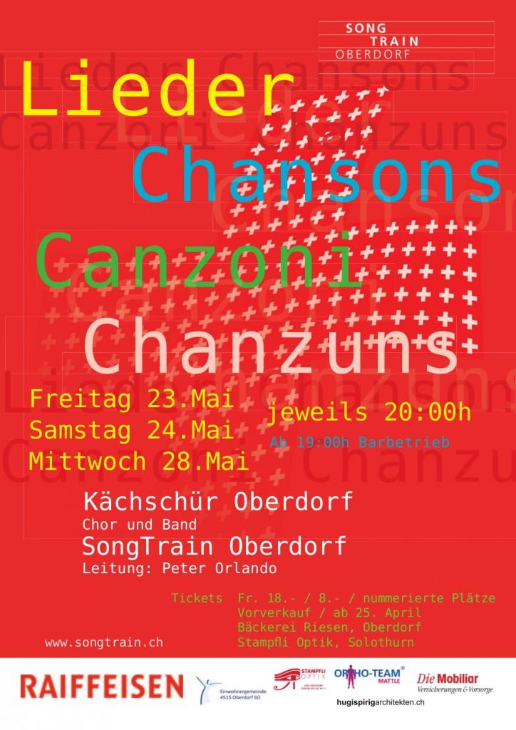 SongTrain Plakat 2014
