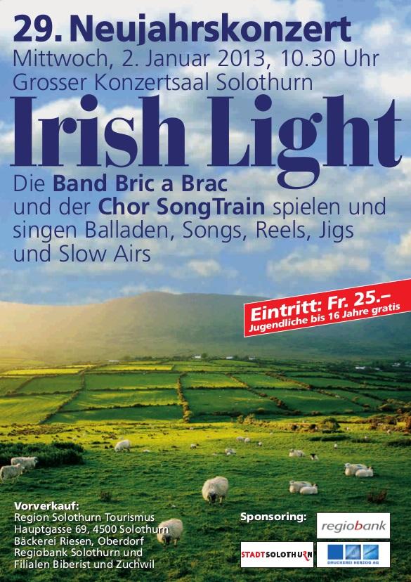 SongTrain Plakat Neujahrskonzert 2013