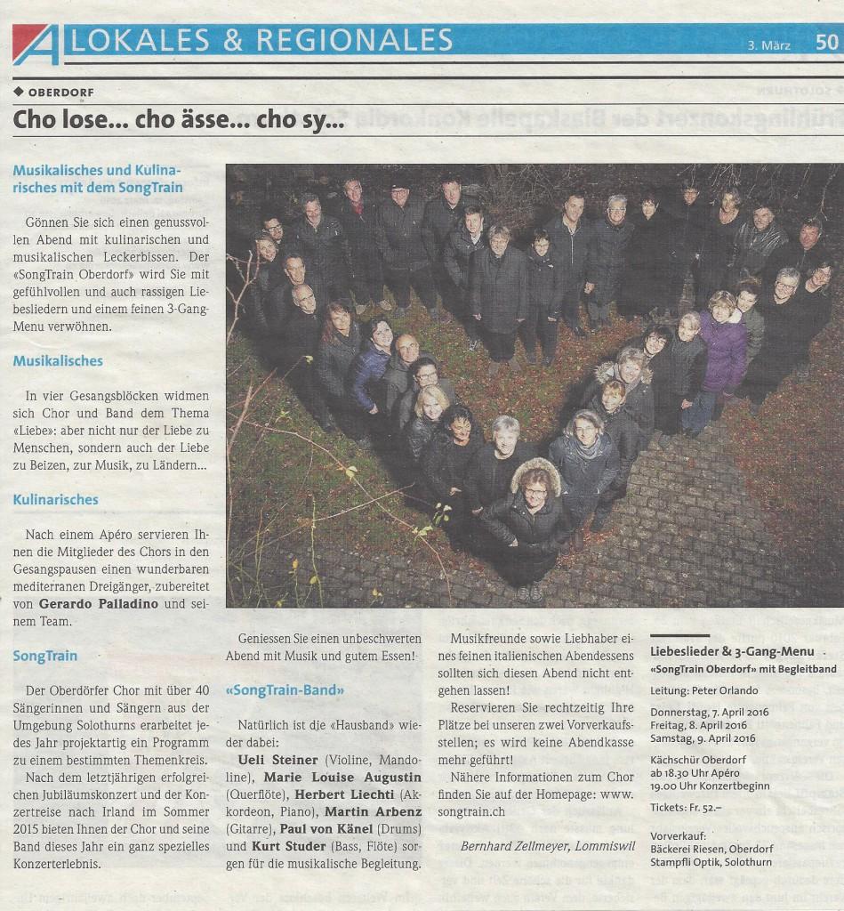 Voranzeige Azeiger 3.03.2016 Liebeslieder