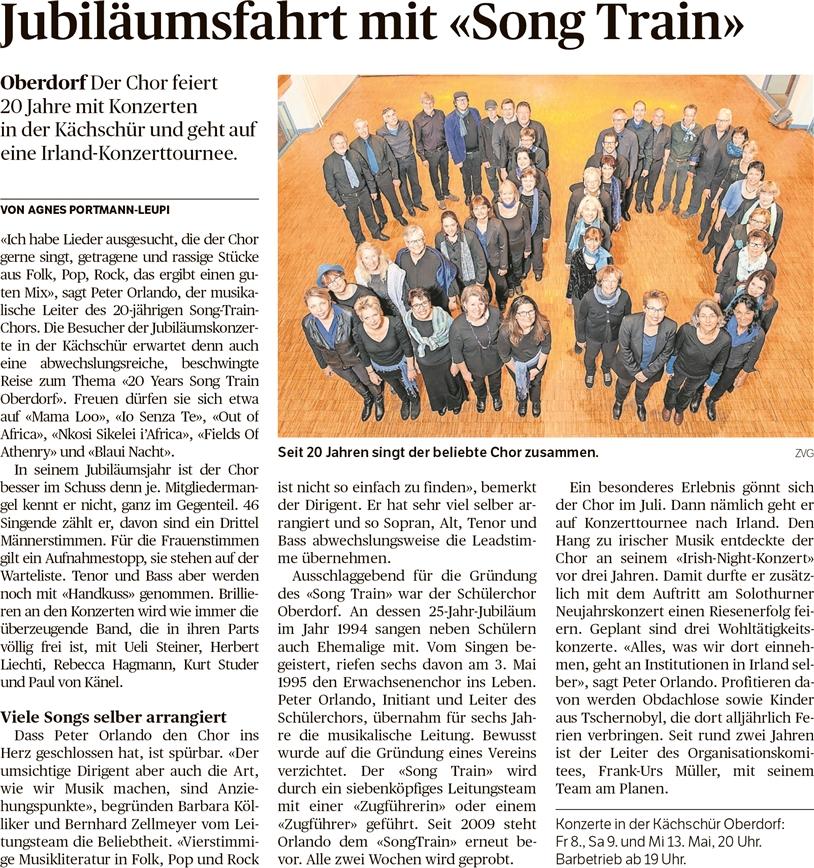 Voranzeige Solothurner Zeitung